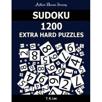 Fat Dog Publishing Llc Sudoku 1200 Extra Hard Puzzles: Keep Your Brain Active For Hours