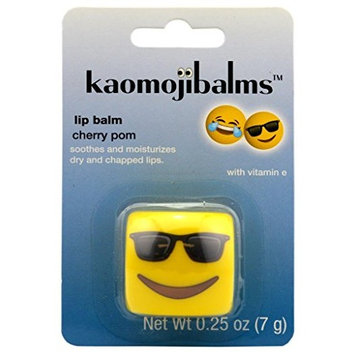 Kaomojibalms Lip Balm - Sunglasses - Cherry Pom