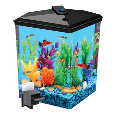 Aqua Culture Aquaculture 2.5 gal Corner Aquarium Kit