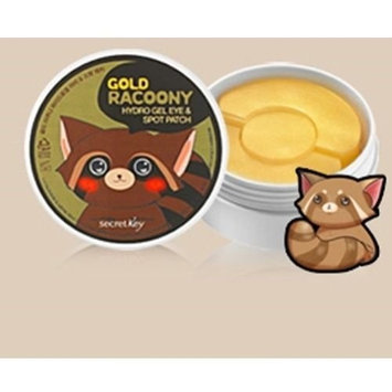 [SECRET KEY] Gold Racoony Hydrogel Eye & Spot Patch 90 Sheet - Best Treatment for Bags & Puffiness, Wrinkles and Dark Circles, 24K Gold Hydro Gel Mask with Abundant Essence, Skin Soothing & Hydrating: Health & Personal Care