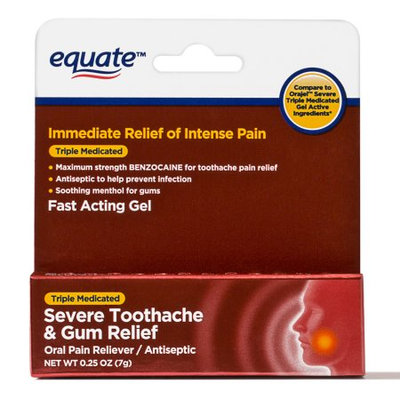 Equate Severe Toothache & Gum Relief Oral Pain Reliever/Antiseptic, 0.25 oz