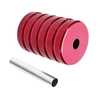 Baoblaze Aluminum Alloy Tattoo Grip Stem Pipe Hand Held Bar Tube Red