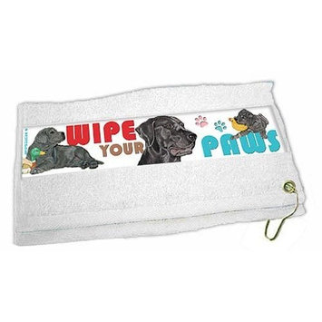 Black Lab Paw Wipe Towel