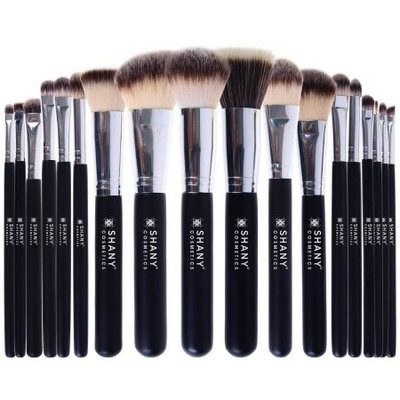 SHANY Triple Pro Synthetic & Natural Hair Brush Set with Apron, Black, 18 pc