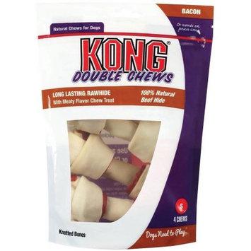 Kong Chewy Treats Kong Double Chews Bacon & Rawhide: 4.5 Chews #68714 - Meaty Dog Treats