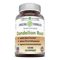 Good Brands, Llc Amazing Nutrition Dandelion Root Dietary Supplement - 520mg, 250 capsules