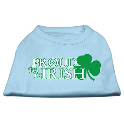 Mirage Pet Products 5164 SMBBL Proud to be Irish Screen Print Shirt Baby Blue Sm 10