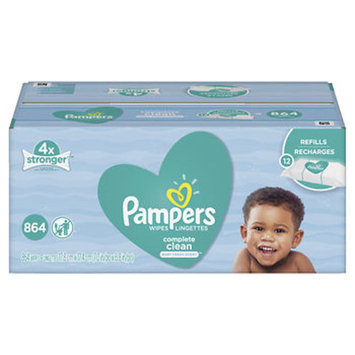 Pampers Complete Clean Baby Fresh Scent Baby Wipes, 864 ct.