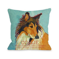 One Bella Casa Collie 1 Pillow, 18 by 18-Inch