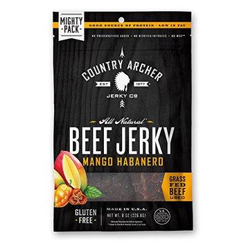 Country Archer 100% Grass-Fed Gluten Free Beef Jerky, Mango Habanero, 8 Ounce [Mango Habanero]
