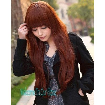 X&Y ANGEL New Fashion Kanekalon Long Wavy Sexy Hair Wig Wigs Wine Red K001