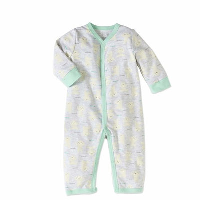 born Boy Footless Coverall One Piece Romper