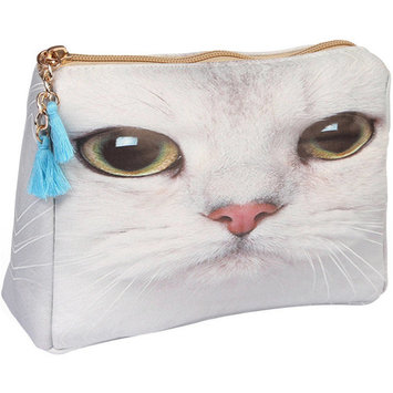 Riah Fashion Cat Print Cosmetic Pouch