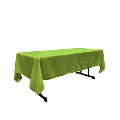 LA Linen TCpop60x108-LimeP84 Polyester Poplin Rectangular Tablecloth Lime - 60 x 108 in.