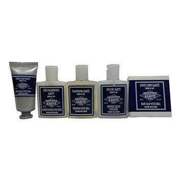 Institut Karite Shea Travel Set Shampoo, Conditioner, Shower Cream, Body Cream, Body Soap