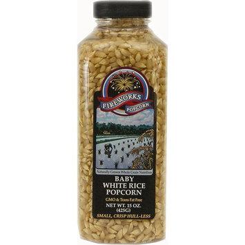 Fireworks Popcorn Baby White Rice, 15 oz Bottles (Pack of 6)