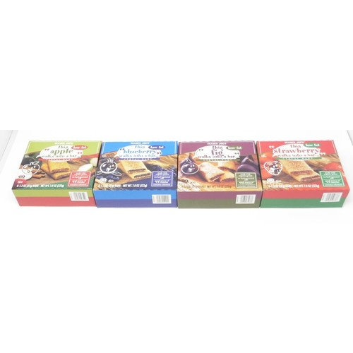 Four Types of Walks into a Bar Breakfast Cereal Bars- Strawberry, Apple, Blueberry and Fig (Total 24 Bars) Trader Joes