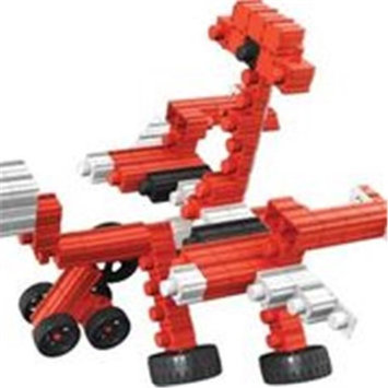 SNAPO 16A152RD 151 Piece Space Station Building Blocks Red & White - Black