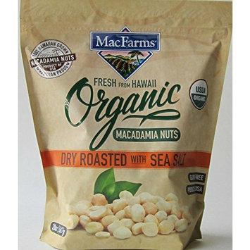 MacFarms Organic Dry Roasted Macadamia Nuts with Sea Salt 20oz Bag