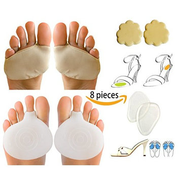 LifeLux Ball Of Foot Cushions Metatarsal Pads Pain Relief Kit. Relieve Forefoot Pain, Morton's Neuroma.