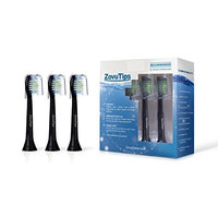 5 HX6064 Black Premium Quality ZovuTips Replacement Toothbrush Heads Compatible With Philips Sonicare DiamondClean and Most Philips Models (See Description) [5, 8,...