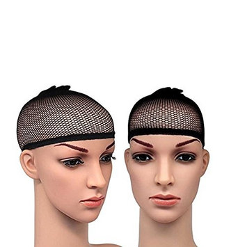 Fashion Lady Deluxe Closed Top Weave Cap (Pack of 2)Wig Cap Open End Black Mesh Net Liner Weaving Cap
