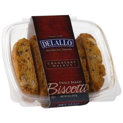 DeLallo Walnut Biscotti, Cranberry, 7 Ounce (Pack of 4)