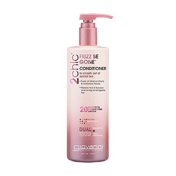 Giovanni 2chic Frizz Be Gone Shea Butter & Sweet Almond Oil Conditioner, Value Size, 24 Ounce