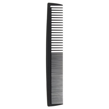 Carbon Wide/Fine Tooth Hair Comb
