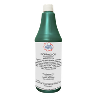 Just Popped Turquoise Colored Popcorn Popping Oil 32 Oz