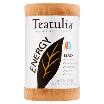 Teatulia Energy Organic Black Teas, 30 count, 1.69 oz, 6 pack