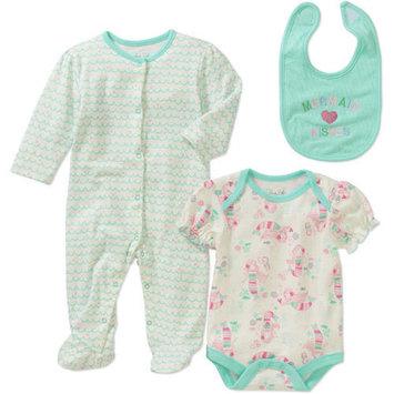 born Baby Girl Take-Me-Home, 3pc Set