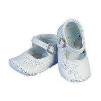 Angels Garment Baby Girls White Flower Buckle Christening Shoes 0-3
