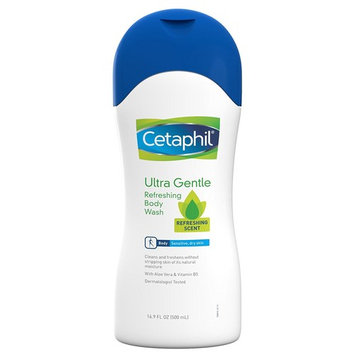 Cetaphil Ultra Gentle Body Wash, Refreshing Scent, 16.9 Ounce [Refreshing Scent]