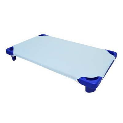 American Baby Company Percale Cotton Standard Day Care Cot Sheet, Blue, 23