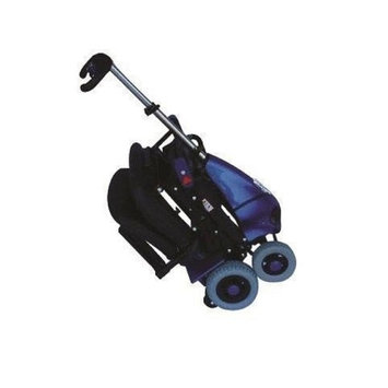 Solax Mobility - Mobie Plus - Folding Travel Scooter - 4-Wheel - Blue - PHILLIPS POWER PACKAGE TM - $500 VALUE