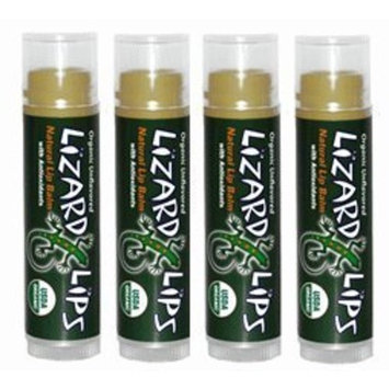 Lizard Lips USDA Certified Organic 4 Pack - Unflavored