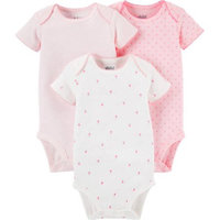 Child Of Mine by Carter's Newborn Baby Girl Short Sleeve Bodysuits, 3-Pack