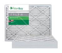 AFB Silver MERV 8 24x28x1 Pleated AC Furnace Air Filter. Filters. 100% produced in the USA. (Pack of 6)
