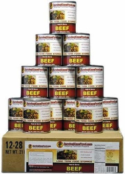 Survival Cave Canned Meat Beef Food-1 case (12 cans)-28oz