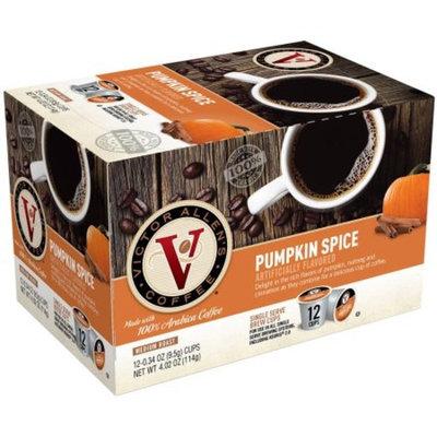 Victor Allen's Coffee Medium Roast Pumpkin Spice Single Serve Brew Cups, 0.34 oz, 12 count