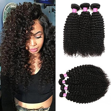 Mink Hair 8A Brazilian Curly Hair Bundles (12 14 16) Unprocessed Virgin Kinkys Curly Human Hair Weave Extensions Natural Color