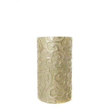 Amazing Flameless Candle Holiday Collection Flameless Pillar Candle, 6