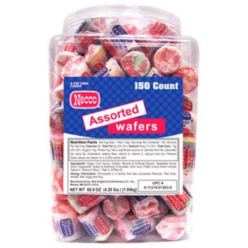 Necco Wafer Rolls, 2.02 Oz, Chocolate, Tub Of 150