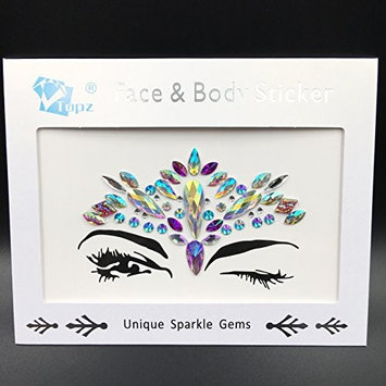 Bohemia Tribal 3D Crystal Sticker body Face And Eye Jewels Forehead Stage Decor Temporary Tattoo Sticker