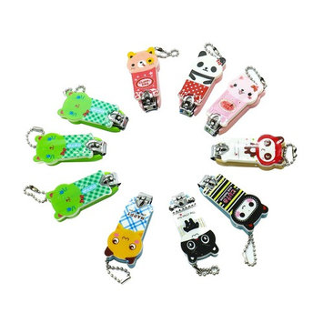 Pack Of 10 Cute Cartoon Stainless Steel Nail Cutter with Chain ,Best Quality Nail Cutter