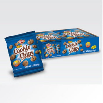 Xel-ha,llc Grace mini chocolate chips cookie 1 oz (6 Cookies) - Galletas de chocolate (Pack of 4)