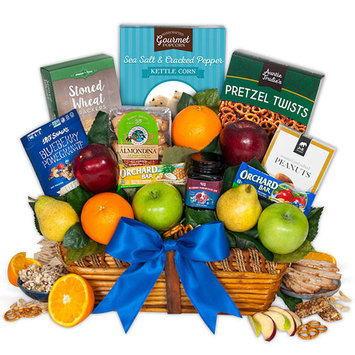 Fruit & Healthy Snacks Gift Basket