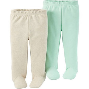 Child Of Mine by Carter's Newborn Baby Footed Pants, 2-Pack
