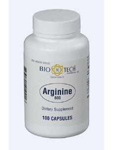 Arginine 600 mg 100 caps by Bio-Tech